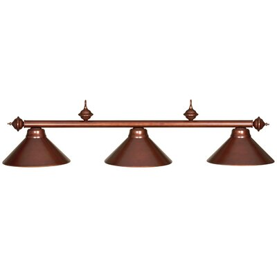 Harpersfield 3-Light Metal Billiards Light Finish: Chestnut
