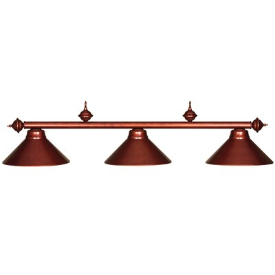 Harpersfield 3-Light Metal Billiards Light Finish: English Tudor