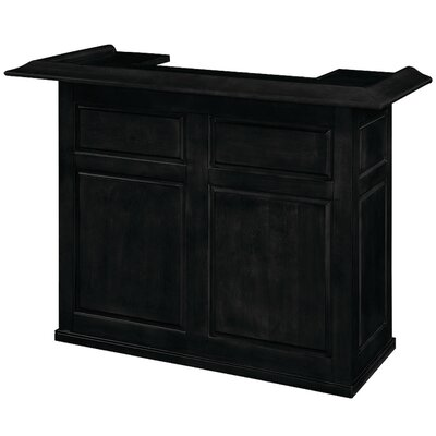 Bar with Wine Storage Color: Black