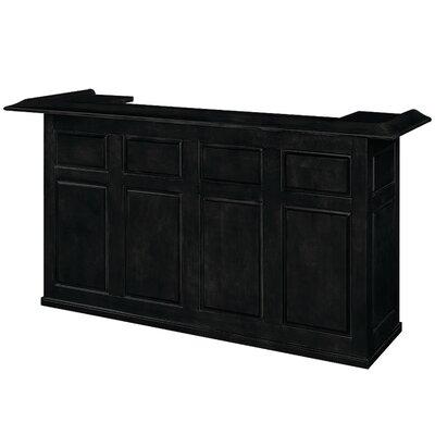 Bar with Wine Storage Finish: Black