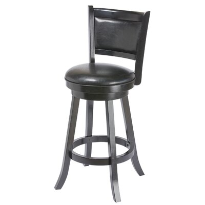 Bridgetown 30 Swivel Bar Stool Finish: Black