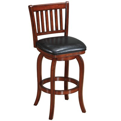 Backed 29 inch Swivel Bar Stool Finish: Cappuccino