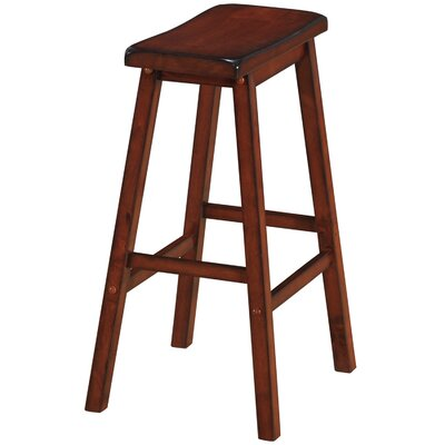 Backless Saddle 29 Barstool Finish: English Tudor