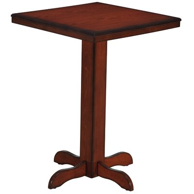 Square Pub Table Color: Chestnut