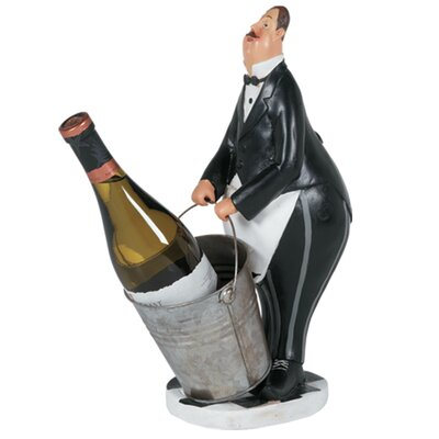 Butler in Black Tuxedo 1 Bottle Tabletop Wine Rack
