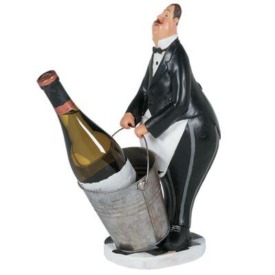 Butler in Black Tuxedo 1 Bottle Tabletop Wine Rack