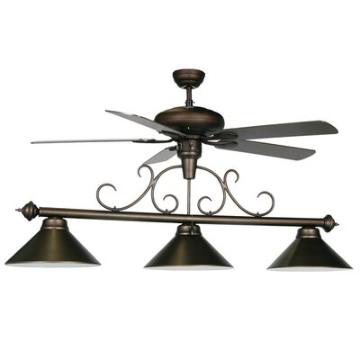 3-Light Billiard Light with Ceiling Fan