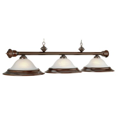 3-Light Billiards Pool Table Light Finish: Mahogany
