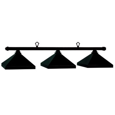 Billiard 3-Light Pool Table Light Finish: Matte Black, Size: 13 H x 54 W x 14 D