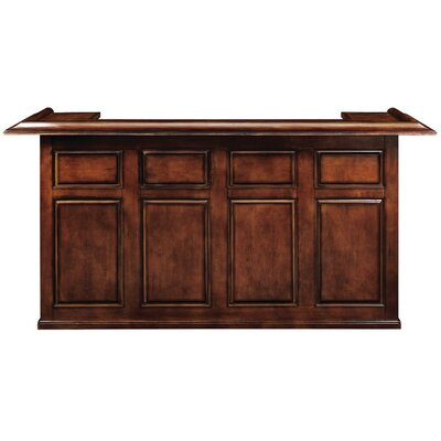 Bar with Wine Storage Finish: Chestnut