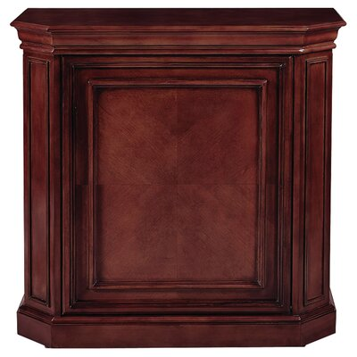 Bar Cabinet with Spindle Color: English Tudor