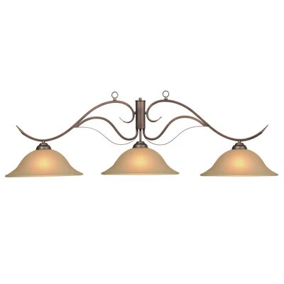 3-Light Kitchen Island Pendant Finish: Oil Rubbed Bronze