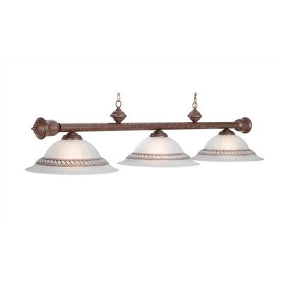 Corda 3-Light Billiards Light Finish: Old Brown