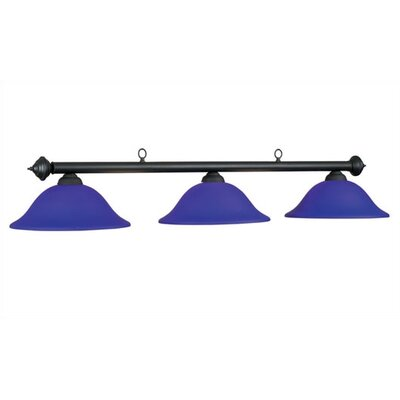 Marseilles 3-Light Billiards Light Shade Color: Blue