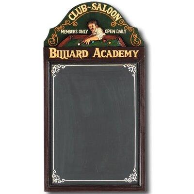 Hand-Carved Billiard Academy Sign R433