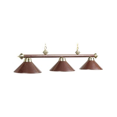 Harpersfield Pool Table Light Size: 78, Shade Color: Brown Leather