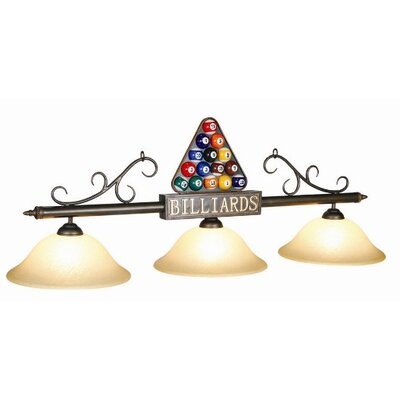 3-Light Rack Billiard Light