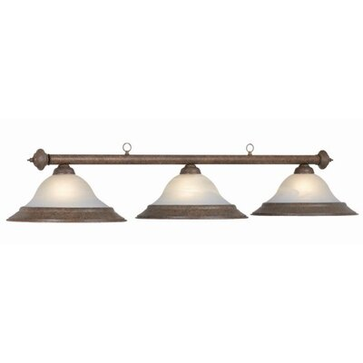 3-Light Billiard Light Finish: Old Brown
