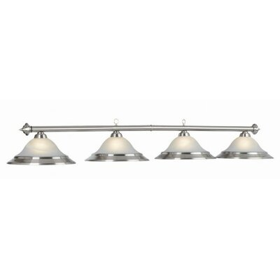 4-Light Billiard Light Finish: Stainless