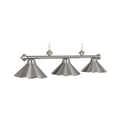 3-Light Billiards Light Finish: Stainless Steel