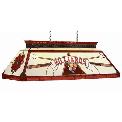 Tiffany 4 Light Billiard Light Finish: Red