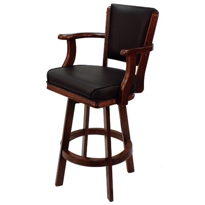 30 inch Swivel Bar Stool Frame Finish: English Tudor