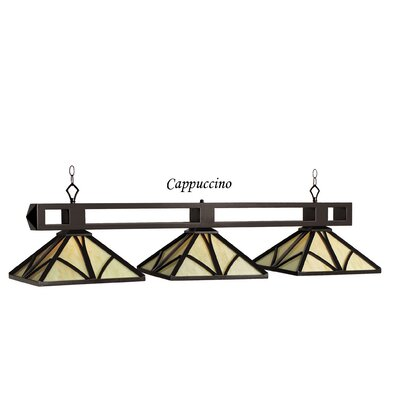 Chateau 3-Light Billiard Light Finish: Cappuccino