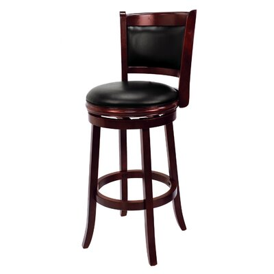 Bridgetown 30 Swivel Bar Stool Finish: English Tudor