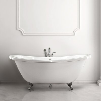 Andrea 7238 SS 72 Soaking Bathtub Finish: Biscuit
