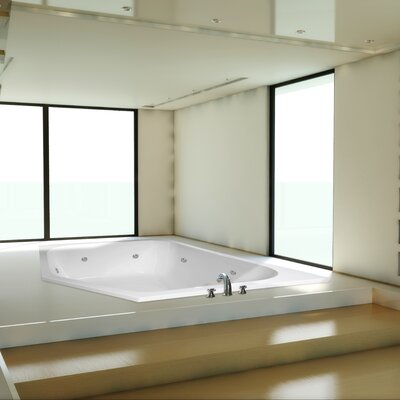 Designer Katarina 69 x 69 Whirlpool Bathtub Finish: White