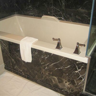 Designer Kayla 74 x 42 Soaking Bathtub Finish: Biscuit