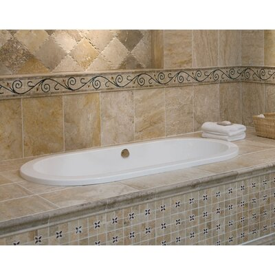 Designer Elle 72 x 36 Whirlpool Bathtub Finish: White