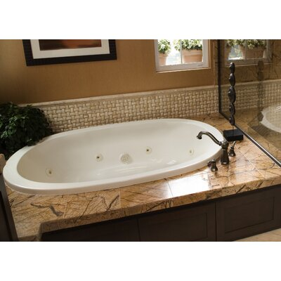 Designer Galaxie 60 x 38 Air Tub Finish: White