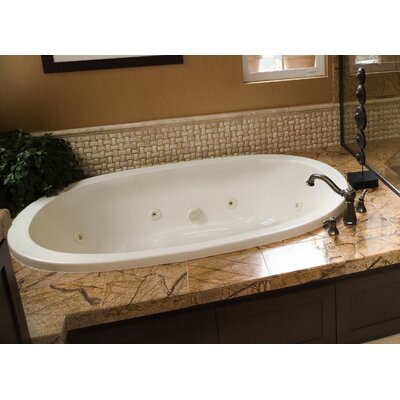 Designer Galaxie 66 x 38 Whirlpool Bathtub Finish: Biscuit