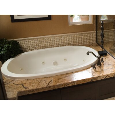 Designer Galaxie 74 x 44 Whirlpool Bathtub with Combo System Finish: White