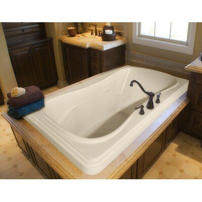 Designer Jennifer 72 x 48 Whirlpool Bathtub Finish: Bone