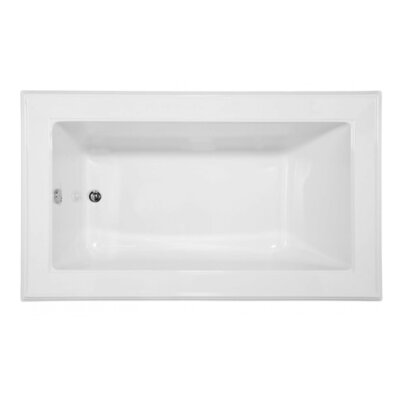 Designer Angel 72 x 42 Drop In Air Bathtub Finish: White