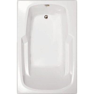 Builder 60 x 36 Whirlpool Bathtub Finish: White