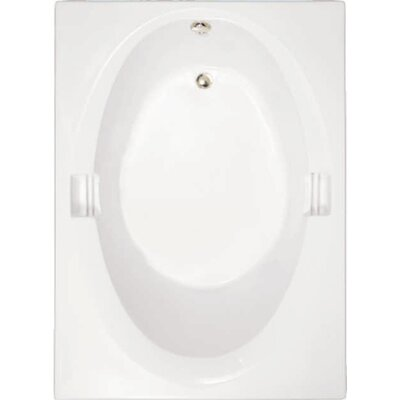 Builder Hourglass 60 x 42 Soaking Bathtub Finish: White
