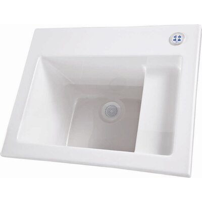 26 x 21 Single Designer Delicate Touch Laundry Sink Finish: White