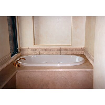 Designer Aimee 72 x 36 Soaking Bathtub Finish: Bone