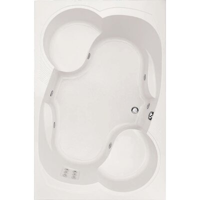 Designer Makyla 75 x 48 Soaking Bathtub with Combo System Finish: White