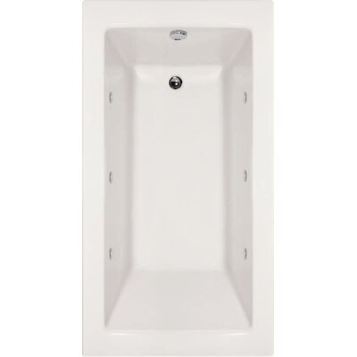 Designer Sydney 72 x 40 Whirlpool Bathtub Finish: White