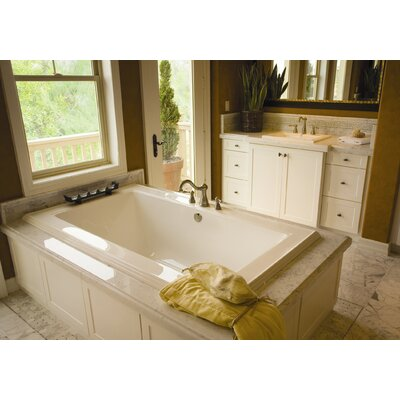 Designer Angel 66 x 42 Soaking Bathtub Finish: Almond