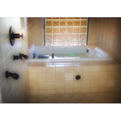 Designer Ashley 72 x 48 Soaking Bathtub Finish: White