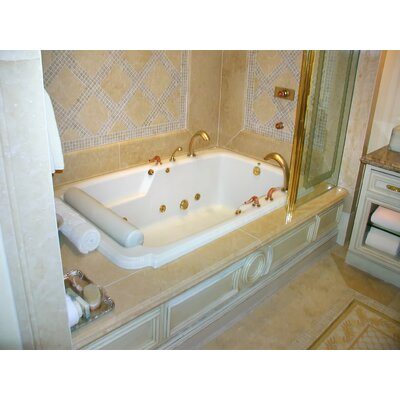 Designer Atlandia 74 x 48 Soaking Bathtub Finish: White