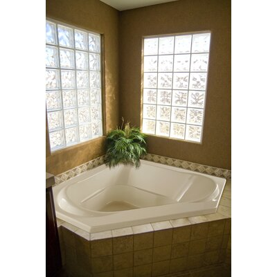 Designer Clarissa 55 x 21 Whirlpool Bathtub Finish: Bone
