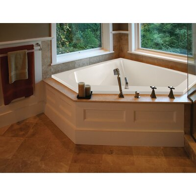 Designer Courtney 60 x 48 Whirlpool Bathtub Finish: White, Drain Location: Center