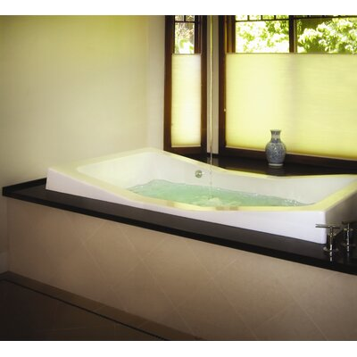Designer Danika 73 x 41 Whirlpool Bathtub Finish: White