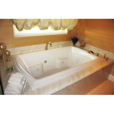 Designer Debra 72 x 42 Whirlpool Bathtub Finish: White